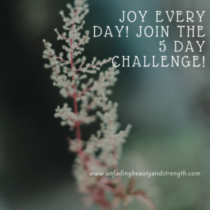 Joy Challenge From Unfading Beauty and Strength!