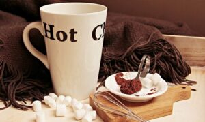 Hot cocoa and scarf
