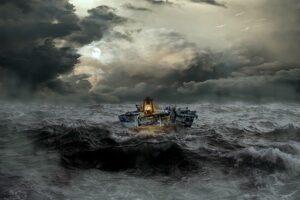 Fearfu faith can look like a boat in a storm