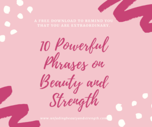 Free Printable from Unfading Beauty and Strength: Christian Encouragement for Ordinary Women