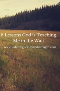 Lessons God is teaching me in the wait